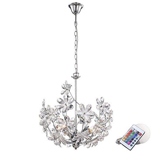 10 5 watt rgb led h nge leuchte blumen decken lampe farbwechsel beleuchtung esszimmerst. Black Bedroom Furniture Sets. Home Design Ideas