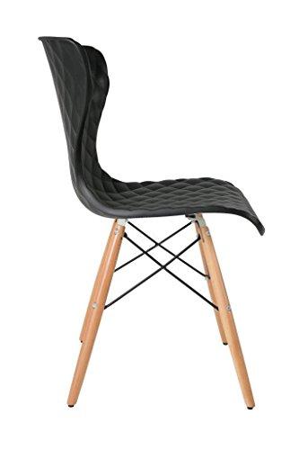 2er set stuhl crow beech esszimmerstuhl in schwarz. Black Bedroom Furniture Sets. Home Design Ideas
