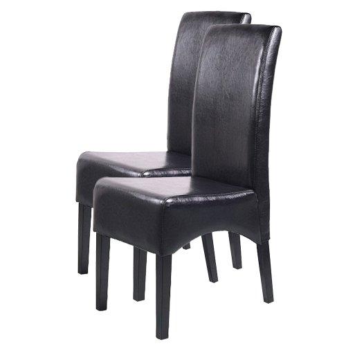 2x esszimmerstuhl lehnstuhl stuhl latina leder schwarz dunkle beine 0 esszimmerst. Black Bedroom Furniture Sets. Home Design Ideas