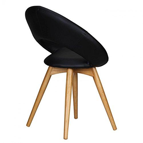 2x finebuy esszimmerstuhl skandinavisch massivholz sitz kunstleder schwarz esszimmerst - Esszimmerstuhl skandinavisch ...