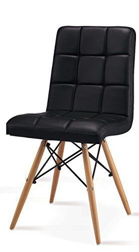 4er set esszimmerstuhl inspiration leder pu weiss buche lederstuhl retro chair. Black Bedroom Furniture Sets. Home Design Ideas