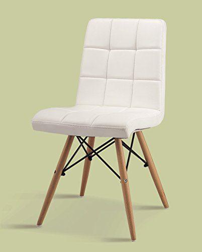 4er set esszimmerstuhl inspiration leder pu weiss buche lederstuhl retro chair. Black Bedroom Furniture Sets. Home Design Ideas