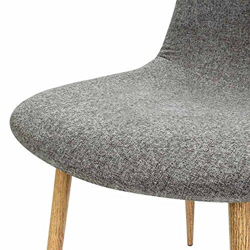 4x design stuhl mit stoffbezug hellgrau esszimmersthle sthle designerstuhl 0 2 esszimmerst. Black Bedroom Furniture Sets. Home Design Ideas