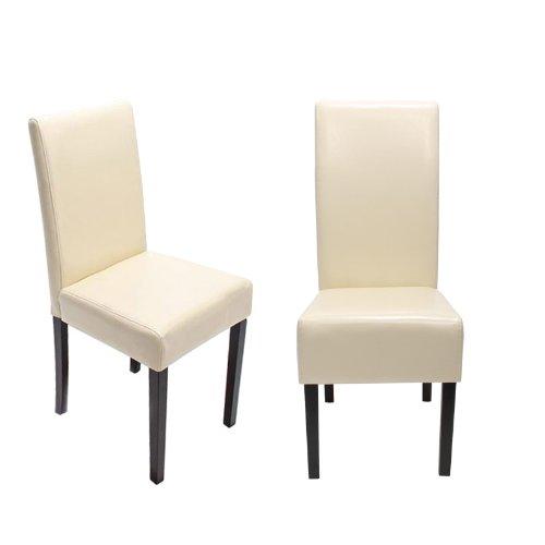 4x esszimmerstuhl stuhl lehnstuhl littau leder creme dunkle beine 0 1 esszimmerst hle. Black Bedroom Furniture Sets. Home Design Ideas