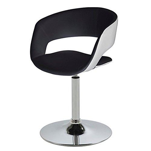 AC Design Furniture 0000057674 Esszimmerstuhl Jack, Sitz, Rücken Lederlook, Rückenteil, weiß / schwarz
