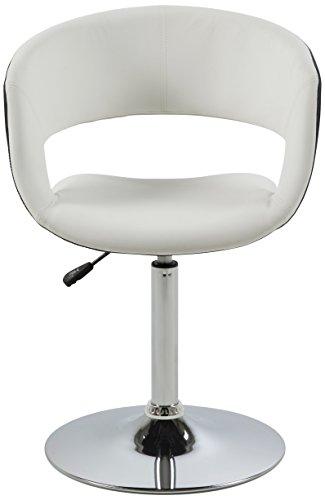 AC Design Furniture 0000057729 Esszimmerstuhl Jack, Sitz, Rücken Lederlook, Rückenteil, schwarz / weiß
