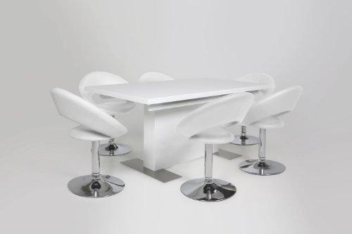 Ac design furniture 48697 esszimmerstuhl 2 er set thilde for Design esszimmerstuhl drehbar