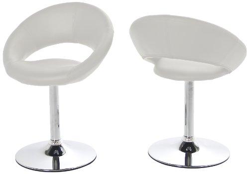 ac design furniture 48697 esszimmerstuhl 2 er set thilde drehbar kunstleder wei. Black Bedroom Furniture Sets. Home Design Ideas