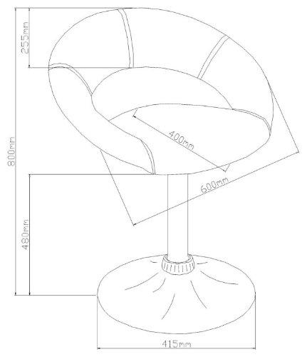 AC Design Furniture 50880 Esszimmerstuhl 2-er Set Thilde, drehbar, Kunstleder braun