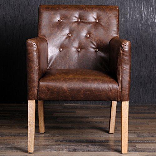 armlehnstuhl esszimmerstuhl textil lederstuhl vintage stuhl frank antik braun esszimmerst. Black Bedroom Furniture Sets. Home Design Ideas