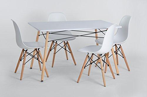 Aingoo retro wei eiffel tisch eames tisch esstisch for Tisch retro design