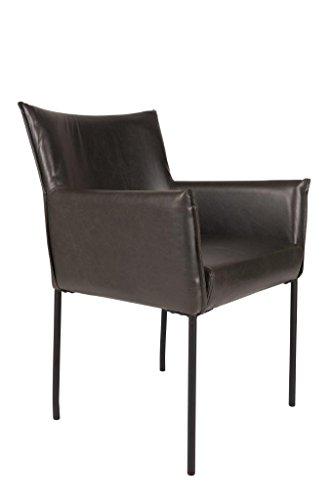 Armlehnen-Stuhl DION schwarz 2er-Set - (SL 2 X 1200120)