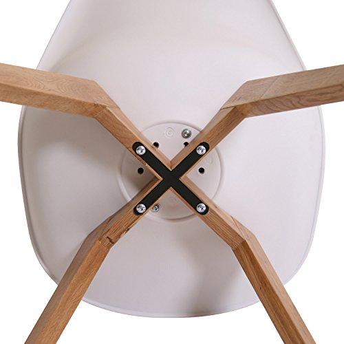 BUTIK FL20360-2 Esszimmerstuhl Valido 2-er Set, Eichenholz, 83 x 48 x 39 cm, weiß