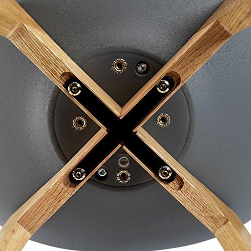 BUTIK FL20368-6 Moderner Design Esszimmerstuhl Consilium Valido, Eichenholz, 6-er Set, 83 x 48 x 39 cm, dunkelgrau