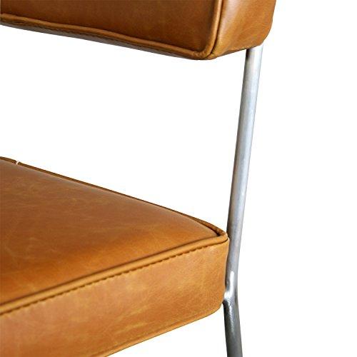 BUTIK FL20441-2 Esszimmerstuhl Rex Vintage 2-er Set, Leder, 82 x 48 x 46 cm, cognac