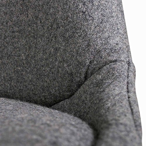 BUTIK Moderner Design Esszimmerstuhl Consilium Valido in Grau / Holz mit Stoff - Maße 83x48x39 cm