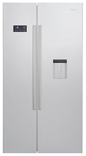 Beko GN 163220 S Side-by-Side / A+ / 182 cm Höhe / 484 kWh/Jahr / 364 Liter Kühlteil / 190 Liter Gefrierteil / Silber