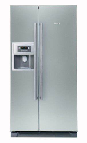 Bosch KAN58A75 Side by Side / A+ / Kühlen: 346 L / Gefrieren: 155 L / Grau - inox-antifingerprint / No Frost / Multi Airflow / Super Gefrieren