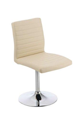 CLP Design Esszimmer-Stuhl DETROIT, Lounge-Sessel Charakter, drehbar, bis zu 6 Farben wählbar creme