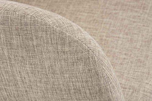 clp moderner besucherstuhl picard mit holzgestell und gut gepolsterter sitzfl che aus stoff. Black Bedroom Furniture Sets. Home Design Ideas