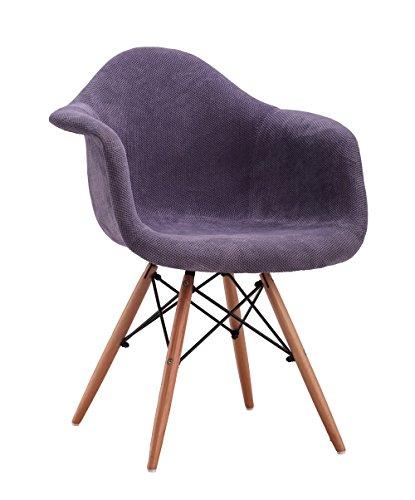 """DESIGNER ESSZIMMERSTUHL """"Eiffel"""" kompl. GEPOLSTERT KÜCHENSTUHL WOHNZIMMERSTUHL LOUNGESTUHL purple 221744"""
