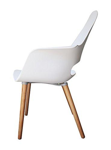 Designer stuhl enzo esszimmerstuhl wohnzimmerstuhl for Küchenstuhl wei