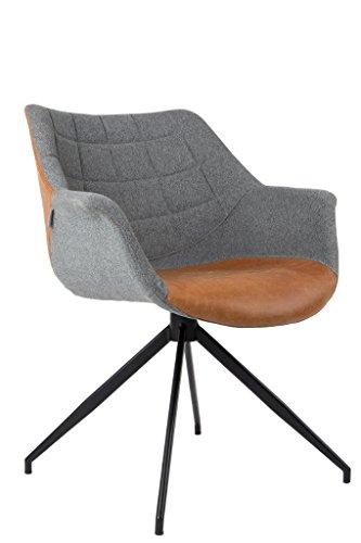 DOULTON Vintage Brown von ZUIVER Esszimmerstuhl Lounge Sessel