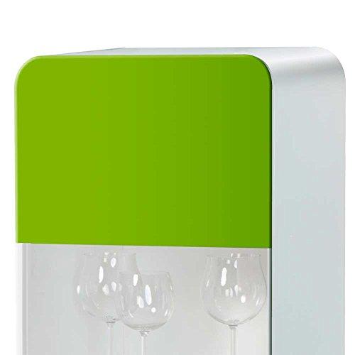 Design Vitrine in Grün Weiß Hochglanz Ohne Beleuchtung Pharao24
