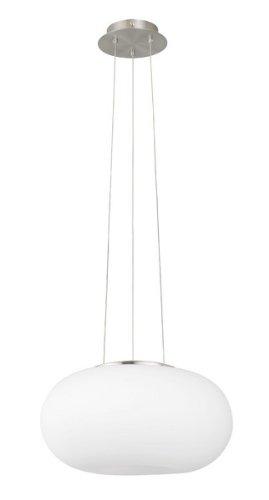 EGLO 86814 Hängeleuchte Opticamit opal-matten Glas, Durchmesser 35 cm, Stahl, nickel-matt