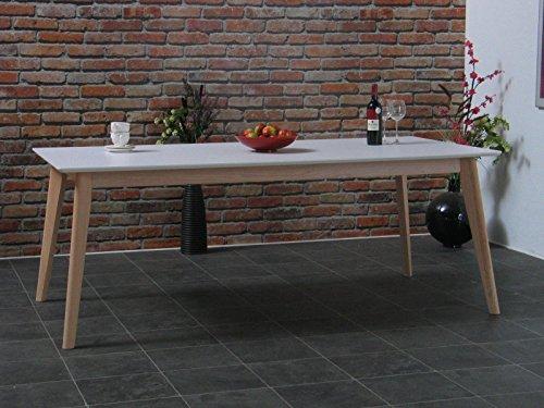 Esstisch Inger 200x100cm Eiche weiß Retro