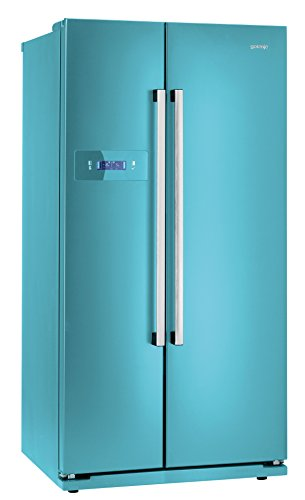 Gorenje NRS 85728 BL Side-by-Side / A+ / 175,5 cm Höhe / Kühlteil: 345 L / Gefrierteil: 192 L / blau / NoFrost / Colour Collection