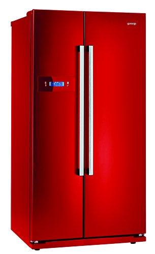 Gorenje NRS 85728 RD Side-by-Side / A+ / 175,5 cm Höhe / Kühlteil: 345 L / Gefrierteil: 192 L / feuerrot / NoFrost / Colour Collection