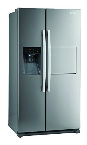 Gorenje NRS 9182 CXB Side-by-Side / A++ / 177,1 cm Höhe / 329 kWh/Jahr / 353 l Kühlteil / 159 l Gefrierteil / Abtau-Vollautomatik NoFrost / Multi Flow 360 Grad Kühlsystem mit Quick Cooling-Funktion / Inox, Anti-Fingerprint Beschichtung