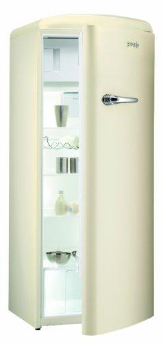 Gorenje RB 60299 OC Kühlschrank / A++ / 154 cm Höhe / 196 kWh/Jahr / 255 L Kühlteil / 26 L Gefrierteil / Umluft-Kühlsystem mit QuickCooling-Funktion / 4 Glasabstellflächen / creme