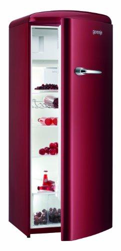 Gorenje RB 60299 OR Kühlschrank / A++ / 154 cm Höhe / 196 kWh/Jahr / 255 L Kühlteil / 26 L Gefrierteil / Umluft-Kühlsystem mit QuickCooling-Funktion / 4 Glasabstellflächen / vulcano red