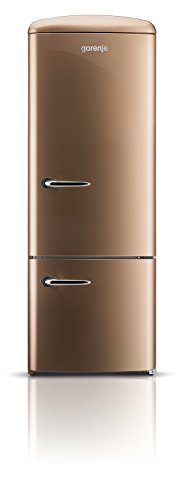 Gorenje RK 60319 OCO Kühl-Gefrier-Kombination / A++ / Höhe 170 cm / Kühlen: 231 L / Gefrieren: 53 L / royal coffee / DynamicCooling-System / LED Beleuchtung / Flaschengitter / Oldtimer / Retro Collection