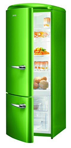 Gorenje RK 60319 OGR-L Kühl-Gefrier-Kombination / A++ / Höhe 170 cm / Kühlen: 231 L / Gefrieren: 53 L / lime green / DynamicCooling-System / LED Beleuchtung / Flaschengitter / Oldtimer / Retro Collection