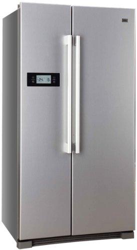 Haier HRF-628DF6 Side-by-Side / A+ / 179 cm Höhe / 449 kWh/Jahr / 380 L Kühlteil / 199 L Gefrierteil / Tür Display, einfache Einstellung, alles unter Kontrolle / edelstahllook