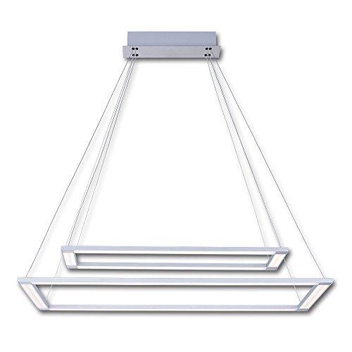 Hochmoderne Deckenlampe Hängeleuchte Pendellampe Esszimmer Wohnzimmer Designer LED 2 x Leisten, EOSA inklusive Fernbedienung Kaltlicht, dimmbar