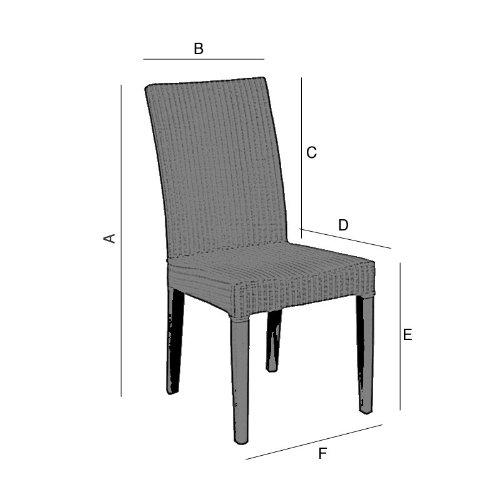 Hochwertige Stuhlhusse, Stuhlbezug in beige   Wildlederoptik   sehr pflegeleicht u. strapazierfähig   waschbar bei 30C