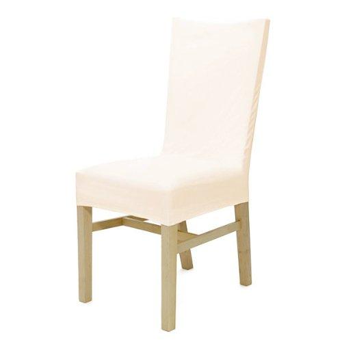 Hochwertige Stuhlhusse, Stuhlbezug in beige | Wildlederoptik | sehr pflegeleicht u. strapazierfähig | waschbar bei 30C