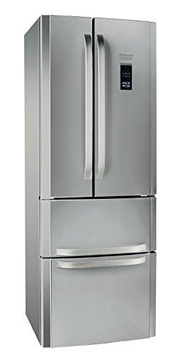 Hotpoint E4DG AAA X MTZ Side-by-Side / 195.5 cm Höhe / 278 kWh/ 298.0 Liter Kühlteil / 87.0 Liter Gefrierteil / Multi-Temperatur-zone / edelstahl