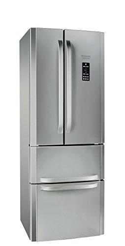 Hotpoint E4DG AAA X O3 Side-by-Side A++ / 195,5 cm Höhe / 295 kWh/Jahr / 291 Liter Kühlteil / 110 Liter Gefrierteil / Activ-Oxygen-Technologie / NoFrost / edelstahl/silber