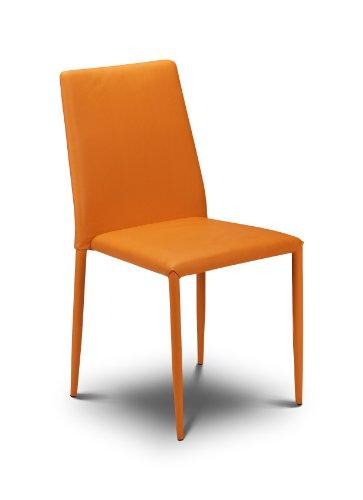 Julian Bowen Jazz Esszimmerstühle, stapelbar, Orange, 4 Stück