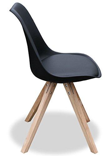 Kmh 2er set designstuhl angie schwarz 800056 for Designstuhl angie