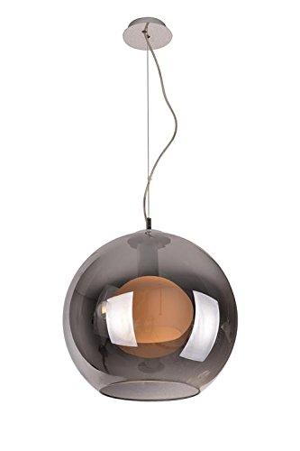 Kugel- Deckenlampe Pendelleuchte Hängeleuchte Chrome / Weiß Modern von Design61