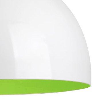 Kuppelförmiger und glänzender Lampenschirm aus weißem und grünem Metall - für Hänge- und Pendelleuchte