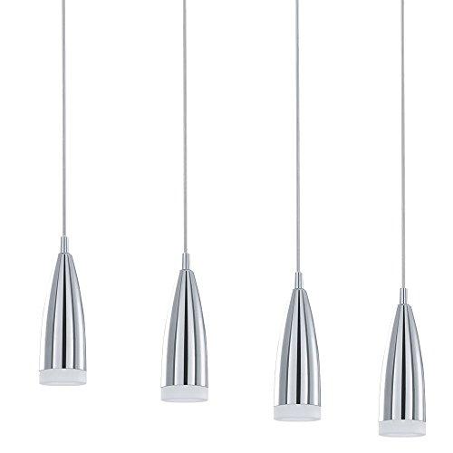 LED 12 Watt Hängeleuchte Pendellampe Chrom Glas Esszimmer Leuchte Eglo Hailey 91359