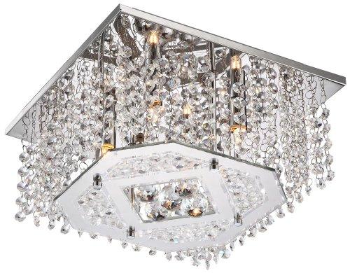 LED Kristall Deckenleuchte Farbwechsler Fernbedienung Lüster Kronleuchter Globo 68550-4