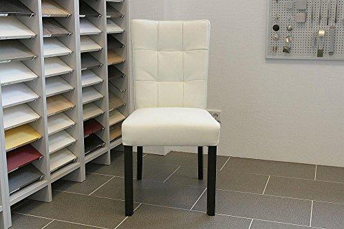 Lederstuhl Stuhl Bella Rindsleder Weiss | SIX Leder Stuhl Esszimmerstuhl Stühle